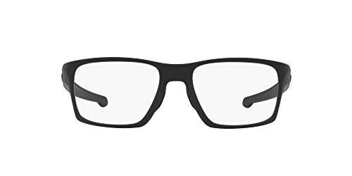 Oakley Men's OX8140 Litebeam Square Prescription Eyeglass Frames, Satin Black/Demo Lens, 55 mm