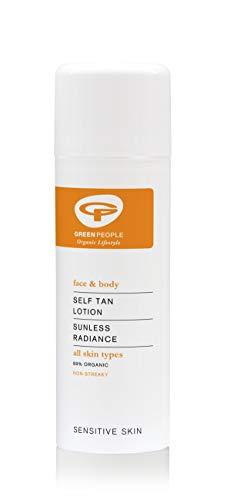 Green People Self Tan Lotion, Bodylotion mit Bräunungseffekt für alle Hauttypen - Organischer Selbstbräuner für Körper, Beine und Gesicht - Pflegende...