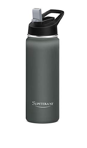 JUPITERANT Water Bottles,Simple Sports Thermoses Flask-Modern Hydro Mug Cold&Hot 24/32OZ-Stainless Steel Double Wall Vacuum Insulated -2Caps(Straw Lid&Chug Lid)