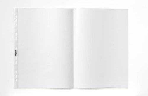 Durable 267019 Prospekthüllen A3 (quer gefalzt, oben offen) 50 Stück transparent