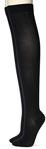 [グンゼ] ソックス ゆったりはきやすい オーバーニー 同色 2足組 AR0218 レディース ブラック 日本 22-24 (日本サイズM-L相当)