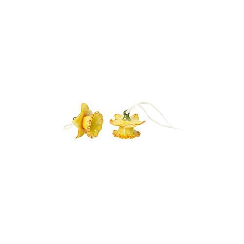 Villeroy & Boch Mini Flower Bells Osterglocken, 2er Set, 4 cm, Porzellan, Gelb, Blumen