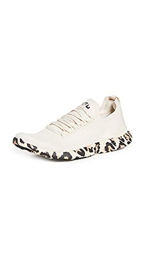 APL: Athletic Propulsion Labs Women's Techloom Breeze Sneakers, Parchment/Leopard, Off White, Print, 8.5 Medium US
