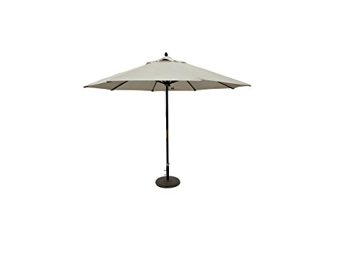 This 11-foot Outdoor Patio Market Umbrella Will Keep You Cool and Protected From the Sun. It Has a Solid Wooden Pole for Long-lasting Performance, Thread Coupling, and Includes a Premium Olefin Cover and Weather Resistant.
