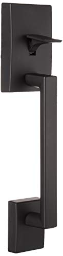 Schlage Front Entry Handle and Latitude Interior Lever with Century Trim (Matte Black) FE285 622 LAT CEN