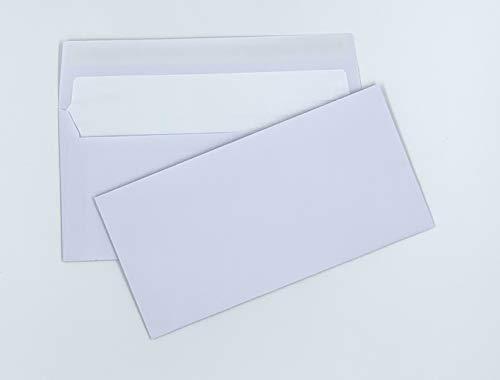 100 Briefumschläge mit hellem Seidenfutter in DIN lang = 220 x 110 mm, mit Abziehstreifen