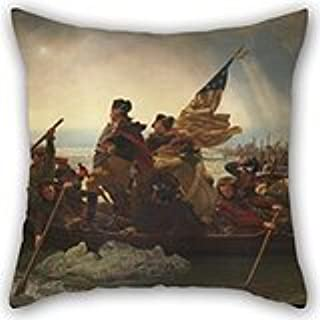 Uloveme 20 X 20 Inches / 50 By 50 Cm Oil Painting Emanuel Leutze (American, Schwäbisch Gmünd 1816�868 Washington, D.C.) - Washington Crossing The Delaware Pillow Covers ,twice Sides Ornament An
