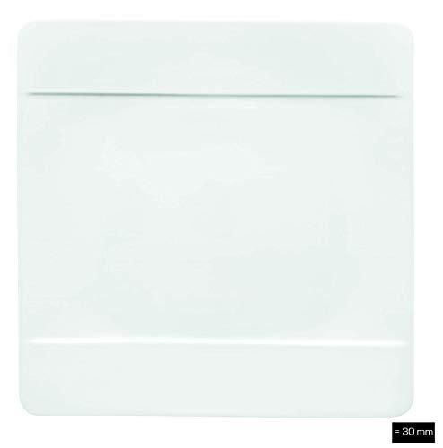 Villeroy & Boch 10-4510-2610 Modern Grace Speiseteller, 27 x 27 cm, Premium Bone Porzellan,