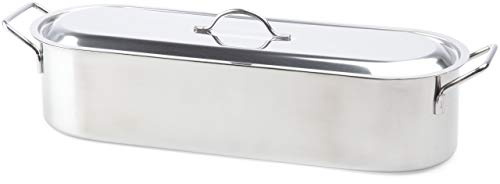 Beka 14700014 - Besuguera con Rejilla para Todo Tipo de cocinas (Acero Inoxidable, 45 cm)