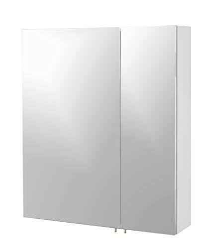 Schildmeyer Basic Spiegelschrank, Melaminharzbeschichtete Spanplatte, Weiß, 60 cm