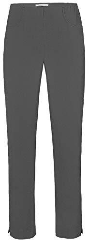 Stehmann Stehmann LOLI-742 Bequeme, stretchige Damenhose, mit schmalem Be (46, Graphit)