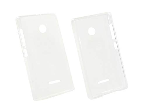 etuo Handyhülle für Microsoft Lumia 532 - Hülle, Silikon, Gummi Schutzhülle - Weiß