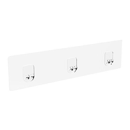 Oriware Transparente Kleber für Duschwagen Korb Bad Regal und Küche Papierrollenhalter mit Regal [2 Stück]