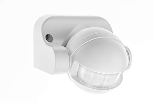 HUBER MOTION 2, Infrarot Bewegungsmelder 180°, weiß, vertikal einstellbar, für Innen- und Außenbereich, IP44 Spritzwasser geschützt