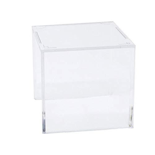 Aboofan, custodia in acrilico per palline da tennis da baseball, supporto per scatola portaoggetti (trasparente)