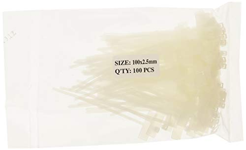 Goobay 17095 Kabelbinder mit Beschriftungsfeld, 100 x 2.5 mm, 1er Pack (1 x 100 Stück)