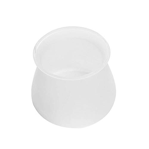 Universal silicone table and chair foot cover,Chair leg caps silicone floor protector furniture table feet covers,Table leg silicone anti-slip pads,Silicone chair leg caps round(40PCS) (Transparent)