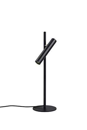 LUUK LIFESTYLE stufenlos dimmbare LED Tischleuchte, LED Tischlampe, Nachttischlampe, Bürolampe, Schreibtischlampe, Leselampe, Design Lampe, Touchbedienung, schwarz matt