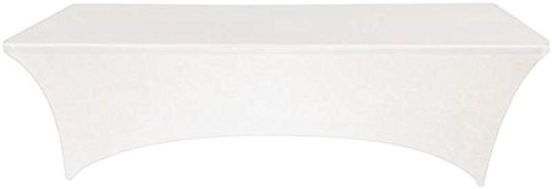 Banquet Tables Pro White 8 Ft 30x96 Rectangular Stretch Spandex Tablecloth