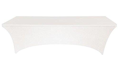 Banquete cuadros Pro blanco 8pies. Mantel Rectangular Spandex