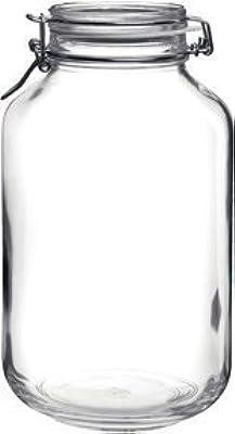 135.25 OZ, BPA Free Fido Round Clear Jar