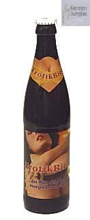 Bierflaschenkerze / Kerze Bierflasche Erotik-Bier 2058