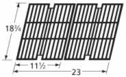 Music City Metals 63012 Gloss Cast Iron Cooking Grid Replacement for Select Kenmore and Sams Gas Grill Models, Set of 2