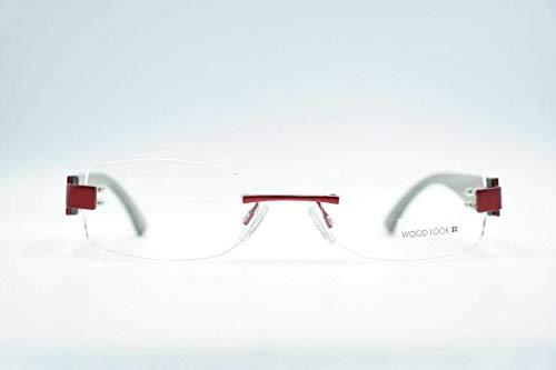 Wood Look WL021026 Rood Grijs randloze bril brilmontuur eyeglasses nieuw