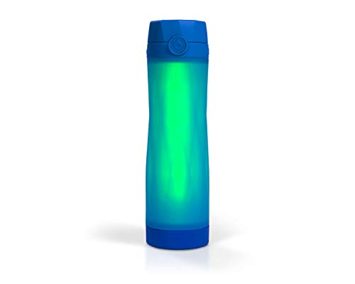 Hidrate Spark 3 Smart Water Bottle, Tracks Water Intake and Glows to Remind You to Stay Hydrated, BPA Free, 20 oz, Royal Blue