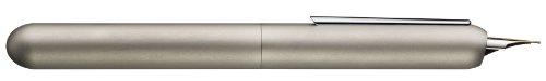 LAMY dialog 3 Füllhalter 074 – faszinierender Füller im Palladium-Finish mit Drehmechanik und mit voll versenkbarer, partiell platinierter 14 kt - Goldfeder – Federstärke B