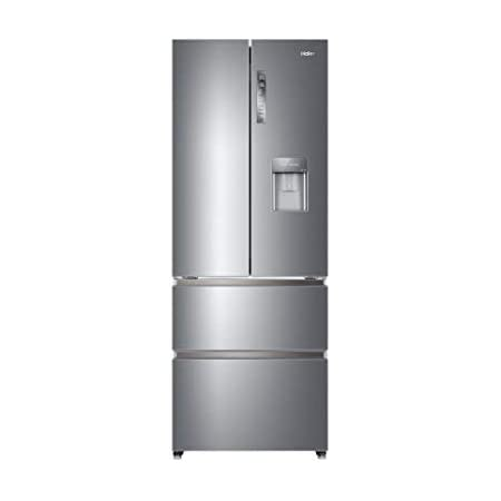 Réfrigérateur américain Haier HB16WMAA - Réfrigérateur 4 portes - 422 litres - Réfrigerateur/congel : No Frost / No Frost - Dégivrage automatique - Gris métal - Silver - Classe A+ / Pose libre
