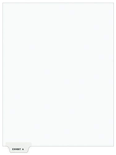 Avery Individual Legal Dividers, Letter Size, Exhibit A, Pack of 25 (11940), White