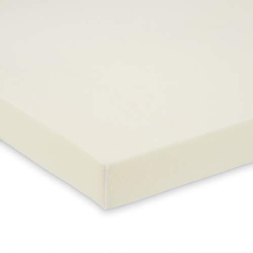 FabiMax 2678 Jersey Spannbettlaken für Beistellbett und Wiege, 90 x 55 cm, creme
