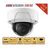 4K PoE Security IP Camera-Compatible with Hikvision DS-2CD2185FWD-I UltraHD 8MP Dome Onvif IR Night Vision Weatherproof Wide Angle 2.8mmLens SD Card Best for Home and Business Security 3 Year Warranty