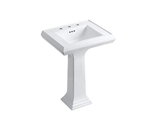 KOHLER K-2238-8-0 Memoirs Pedestal Bathroom Sink, White