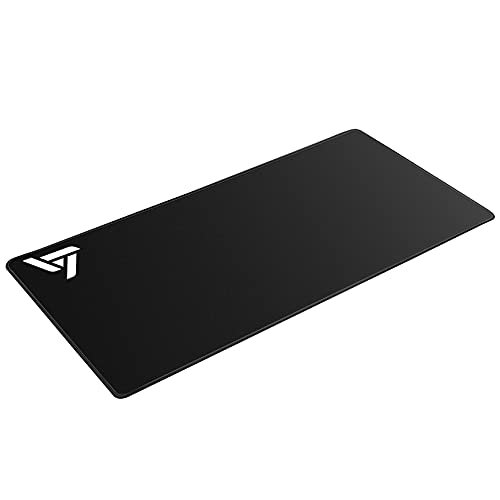 Ergonomic Mouse Pad Extended Gaming Mouse Pad with Stitched Edges, [30% Larger] Long XXL Mousepad (31.5x15.7In), Non-Slip Base Desk Pad Keyboard Mat,Water-Resistant, for Gamer, Office Home,Black