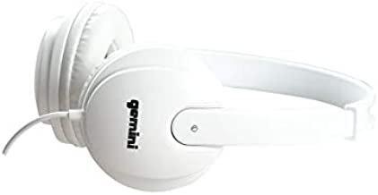Gemini Sound DJ Equipment DJX-200 Technical for Mixing Beats Professional Studio Drums Over The Ear Audio DJ Recording Monitor Headphones, White Closed Back