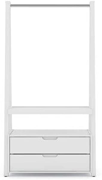 Manhattan Comfort Open Wardrobe Armoire Closet In White