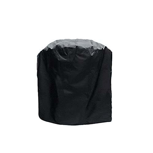 ZWYSL Runde Grillabdeckung Gartentischdecke wasserdichte Plane Reißfest Mit Kordelzug Für Barbecue-Grills Runde Tische, Anpassbar (Color : Schwarz, Size : 84x84cm)