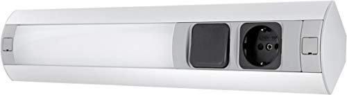 Lámpara LED de aluminio con enchufe e interruptor, 7 W, 450 lm, horizontal y vertical, 230 V, 3600 W