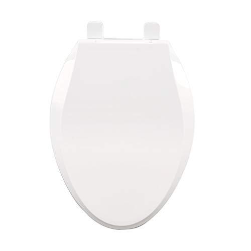 GDSMTG stille comfortabele bloempot voor badkamer witte rand PP wc-bril wc-deksel gemakkelijk te reinigen