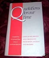 Quotations for Our Time 0748101802 Book Cover
