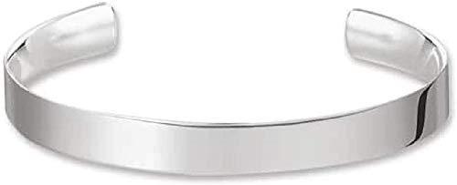 THOMAS SABO Damen-Armreif Edelstahl Love Cuff mit Gravur 925 Silber 8.8 cm - AR088-001-12-L