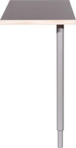 Germania 1690-58 Eckverbindung GW-Duo in der Farbe Anthrazit, 80 x 75 x 40 cm (BxHxT)