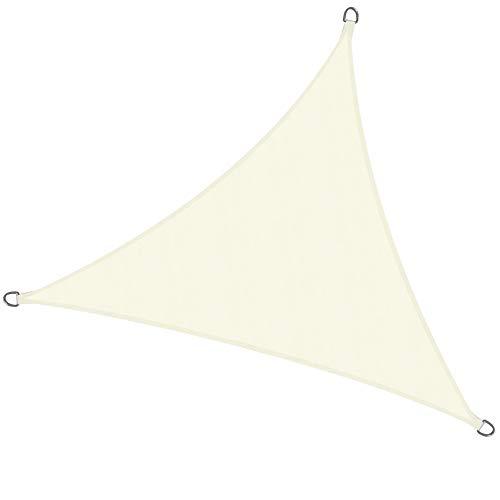 Sol Royal Tenda a Vela Impermeabile Triangolare 300x300x300 cm SolVision PS9 - Protezione Anti Raggi UV - Crema