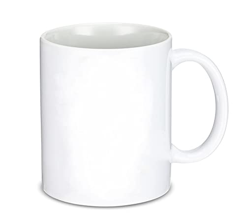 12 oz Sublimation Blank Mugs, White Cricut Mug, Porcelain Espresso Cups, Sublimation Tumbler Used for Coffee,Tea ,Cocoa, Great for DIY Gifts(4.72 x 3.7 Inch)