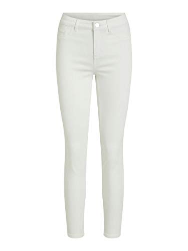 Vila Female Skinny Fit Jeans Cropped MOptical Snow
