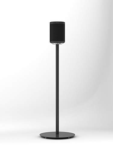 Nova Black Floor Stand for Sonos One (Gen1, Gen2), One SL and Play:1 (Single) - Premium British Design & Manufacturing Perfectly Compliments your Speakers, Improves Sound and Conceals Cables