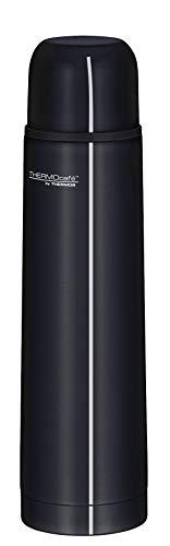 ThermoCafé by THERMOS 4058.233.070 Thermosflasche Everyday, Edelstahl Schwarz 0,7 l, Drehverschluss mit Trinkbecher, BPA-Free