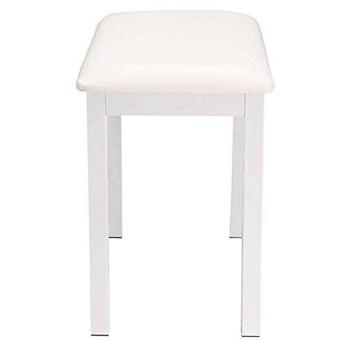 PIVFEDQX Piano Stool Breathable Digital Piano Chair Piano Keyboard Bench Soft PU Leather Need to Be Assembled Comfortable Seating Experience (Color : White, Size : 40x30x48cm)